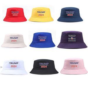 Trump 2024 Hat Bucket Sun Cap USA Presidential Election Fisherman Hats Elections Baseball Caps OWA7640