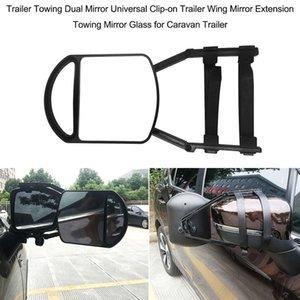 Universal Trailer Towing Dual Mirror Clip-on Trailer Wing Mirror Extension Towing PP Nylon Mirror Glass for Car Caravan Trailera