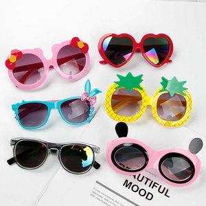 Солнцезащитные очки Корейский Детский Детский Детский Милый Мультфильм Игрушки Очки Модные Удные Девушки Аксессуары
