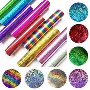 25*30cm Glitter Heat Transfer Vinyl Sheets Glitter HTV Iron On Vinyl for DIY Cricut T Shirt 8 Vibrant Colors Heat Press