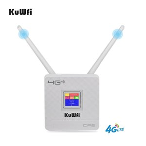 KuWFi 150Mbps Wireless Router 4G LTE Wifi With SIM Card Slot&RJ45 Port Dual External Antennas for home 210607