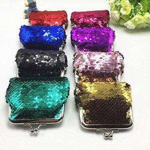 Новые модные блестки мини-кошельки сцепления сумка портативные женщины блестки монеты кошельков сумки держатель карты ключи наушники сумки VT0085