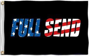 Полный флаг отправки с латунными втулками Nelk Boys American США Флаги 3x5 FT Полный Отправить плакат 90x150см Садовый Украшение Стены Баннер