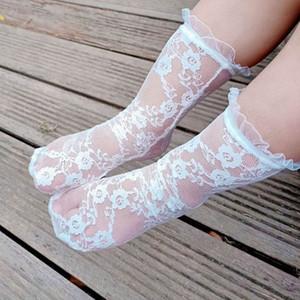 Summer Baby Socks Lace Girls Socks Princess Long Kids Socks Sweet Knit Knee High Sock Baby Clothes Toddler Wear B3989
