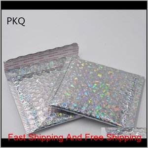 100Pcs 15*13Cm Small Gold Aluminized Foil Metallic Bubble Mailer Shipping Bubble Padded Envelopes Gold Gift Packaging Bag Wmtmoxv O1Sg Mufc