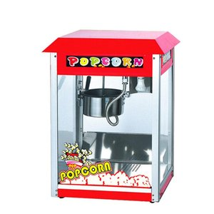 Popcorn Maker Red Machine Corn Movie Snacks Commercial Stainless Steel High-capacity Lighting Fully Automatic Thermal Insulation Fast
