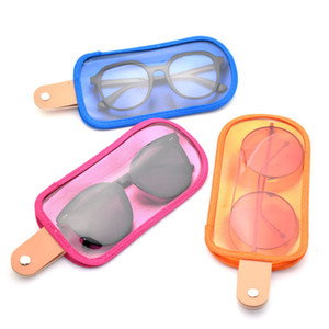 Creative fashion ice cream personalized new mobile phone glasses solid color portable storage sunglasses bag