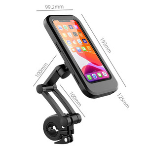 ROCKBROS Bike Handlebar Holder Adjustable IPX6 Waterproof Cycling Bracket Flexible Touch Screen Phone Stand Bicycle Accessories