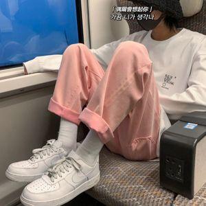 2021 New Spring Summer Men's Fashion Casual Wide-leg Jeans Men Streetwear Korean Loose Hip-hop Straight Denim Trousers Mens M-2xl 5ipl