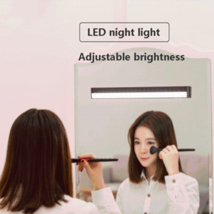 LED night light wireless touch dimming USB rechargeable mirror front light makeup fill lamp wardrobe bathroom night lights