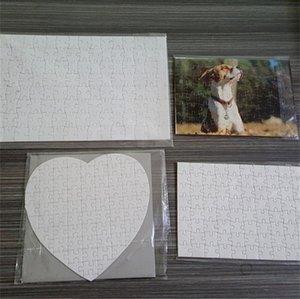 Puzzle de sublimación A5 A4 A4 DIY Puzzles en blanco Puzzles blanco Puzzle Jigsaw 120pcs / 80pcs Transferencia de tremal de calor Impresión Hecho a mano H11905