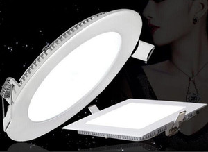 Luces de panel LED al por mayor Dimmable 3W 9W 15W LED luces blancas / cálidas LED SMD 2835 Iluminación para el hogar AV85-265V Techo redondo super-delgado Downlight