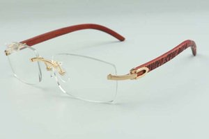2021 natural tiger wooden temples glasses frame 3524012 luxury designers glasses, size: 36 -18-135mm