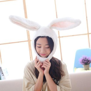PP Cotton Cute Soft Ear Hat Ear Warmer Cap Toys Head Warmer Photo Props Headwear for Party Cosplay Girls Easter Day Gift