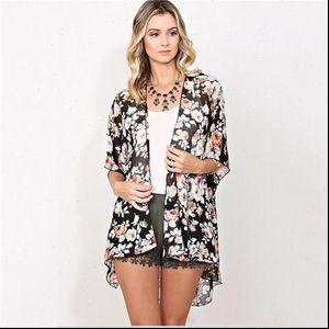 2018 New Arrival Summer Sunproof Cardigan Fashion Women Chiffon Bikini Shirts Kimono Cardigan Coat Printing Half Sleeve camisa
