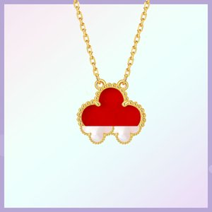 Classic fashion 18K gold rose gold four-leaf clover necklace for women with simple personality and high quality