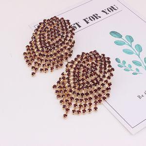 E3487 new earrings alloy full diamond earrings accessories European and American hot women's jewelry