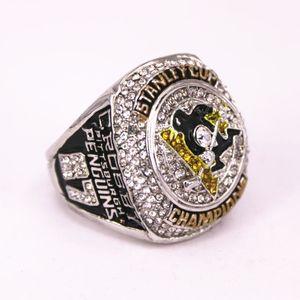 Нежное кольцо Pittsburgh Penguins Чемпионат хоккея льда Crussby 8-15 US