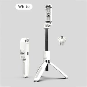 Портативный беспроводной Bluetooth Selfie Stick Stripod Складные штатив Monopods универсальный мини-штатив для смартфона черные белые цвета