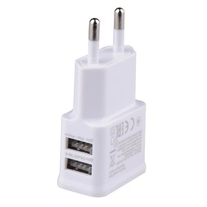 5V 1.0A Plug Dual Double USB Universal mobile phone charger Wall AC Power Chargers Home or Travel For iphone xs xr