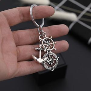 Hello Miss Nieuwe Leisure Anker Rudder Metalen Hanger Kleding Accessoires Mode Neutrale Sleutelhanger Ring