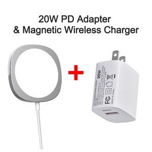 2 IN 1 20W PD Adapter And Magnetic Wireless Charger For iPhone 12 Pro Max Mini Support Samsung Huawei Xiaomi OPPO Vivo Fast Charging