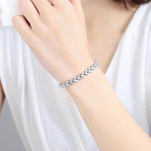 Hot Shiny CZ Zircon Ladies`Bracelets Fashion Women Jewelry Pulsera Regalo de cumpleaños