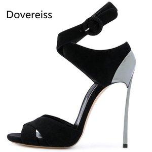 Dovereiss Fashion Femme's Chaussures Été Nouveau Sexy Consice Consice Élégant Sandals Sandales 33-43