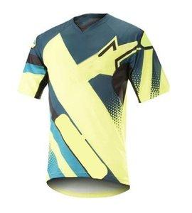 2021 Горный велосипед Скорость капитуляции пользовательских спортивных Дышащаяся быстросохнущая футболка с короткими рукавами велосипедного велосипеда костюм внедорожник гоночный костюм