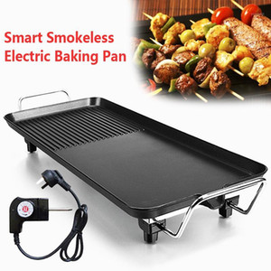Aluminum Electric Grills Indoor Korean Bbq Grill Ceramic Smokeless Non-stick Less smoke Home Electric Barbeque Tools1