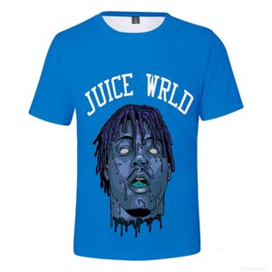 Print Rapper Sleeve Juice Short Wrld 3D T-shirt for Boys and Girls Casual Tees Streetwear Hip Hop Tshirt Children Kids Clot