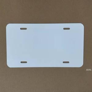 Placa de aluminio de sublimación de aluminio en blanco Hoja de aluminio blanco DIY Transferencia térmica Placas de publicidad Logotipo personalizado 15 * 30 cm Sea FWC6062