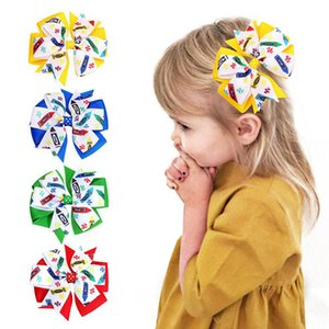 Girls Hair Accessories Hairclips Baby Bb Clip Kids Barrettes Clips Ribbon Childrens Sweet Cute 4Inch Bow Accessory B8514