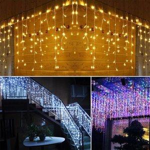 Sokak Garland LED Tatil Aydınlatma 96 Dize 4 M Perde Peri Damla 0.4-0.6m Ev Düğün için Festo Noel Süslemeleri