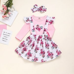 Vieeoease Christmas Baby Girls sets Long Sleeve T-shirt + Floral Tutu Skirts Kids Clothing for 2019 Autumn Winter CC-609