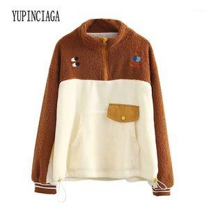 Yupinciaga Nouvelle mode Colorblock Femme Cachemire Couleur Chaud Turtleneck Casual Sweatshirts 2019 Hiver Cute Pullover1