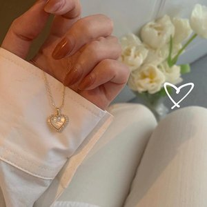 Chains Love Heart Pendant Necklace Alloy Fine Chain Not Fade Vintage Choker Jewelry Gifts For Men Women EA