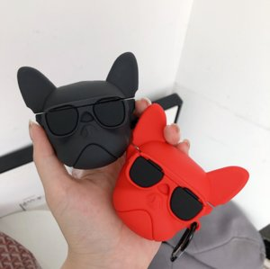 Fashion France Jarre Aerobull Bulldog Headphone Case For Apple Airpods 2 1 Wireless Bluetooth Headset Silicone Earphone Cover