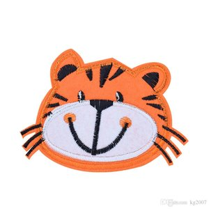 10PCS Cute Tiger Cartoon Patches for Clothing Bags Iron on Transfer Applique Patch for Jeans Sew on Embroidery Patch DIY