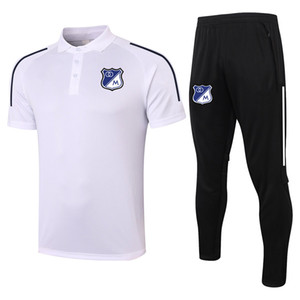2021 Millonarios soccer Short sleeve polo shirt sets soccer training suit sports jerseys adult soccer polos and pants kits Men's Tracksuits