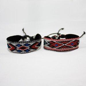 Charm Bracelets Bohemia Geometric Weave Rope Friendship For Woman Men Cotton Handmade Bracelet & Bangles Ethnic Jewelry Gifts