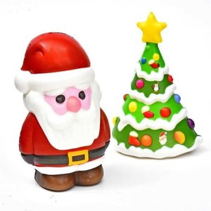 2021 Christmas Artificial Santa Claus Pu Slow Rebound Decompression Toys Cute Kids Hand Pinch Toy Snowman Xmas Tree Decompression Gifts G96F15V
