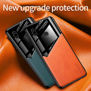 Lens Camera Protection Phone Case For iPhone 12 11 Pro Max Samsung A10S S20FE S20 S20Plus PU Leather Tempered Glass Phone Back Cover