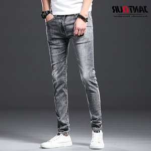 Jantour Brand 2021 Nuovo estate Jeans di cotone primavera uomini Denim NY Fashion Quality Stretch Pantaloni Slim Pants Maschio
