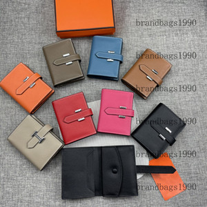Top quality espom Short Wallets silver hardware Whole Leather Women Card holders Purse fashion Cowskin Genuine leather come with box 0510