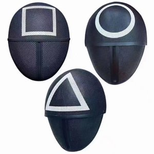 TV Squid Game Masked Man Masks Round Squire Triangle Mask Accessories Delicate Halloween Masquerade Costume Party Props In Stock