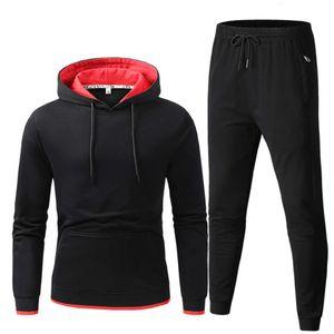 İlkbahar ve Sonbahar erkek Eğlence Spor Takım Elbise Büyük Boy Elastik Spor Gençlik Spor İki Parçalı Sıhhi Suit