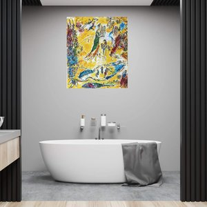 Marc chagall müzik büyücü ev dekorasyon el sanatları / HD baskı yağlıboya tuval duvar sanat resim 210305