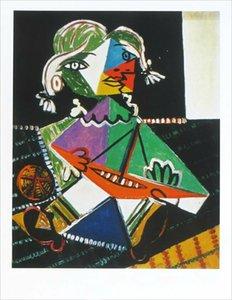 Pablo Picasso Maya con barco Decoración para el hogar Handcrafts / HD Imprimir Pintura al óleo sobre lienzo Arte de la pared Imagen de lienzo 210225