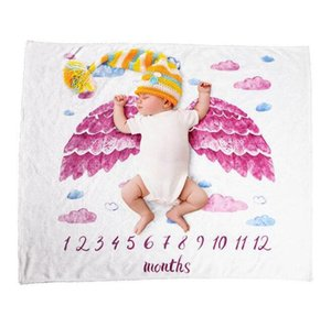 7 Styles Printed Baby Milestone Blanket Eco-friendly 150X120cm Flannel Blankets Travel Home Air Conditioning Blanket sea shipping YL360